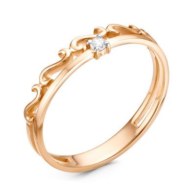 Кольцо 01-11-0008 из золота с бриллиантом
