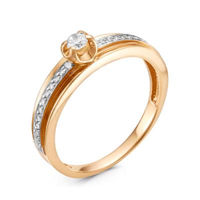Кольцо 01-14-0303 из золота с бриллиантами