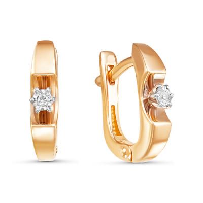 Серьги 02-14-5392 из золота с бриллиантами