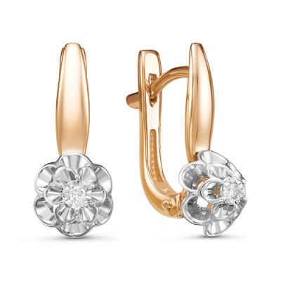Серьги 02-14-5412 из золота с бриллиантами